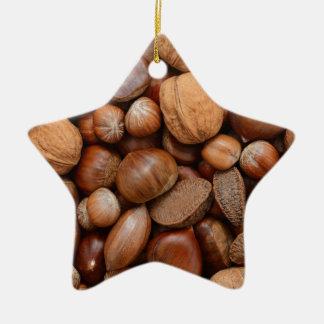 Mixed nuts ceramic ornament