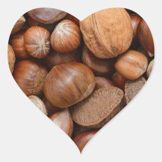 Mixed nuts heart sticker