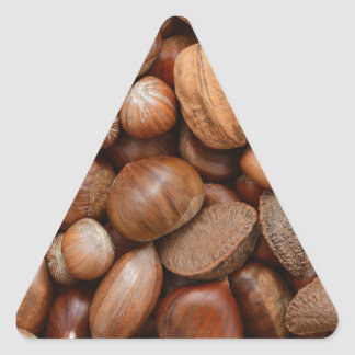 Mixed nuts triangle sticker