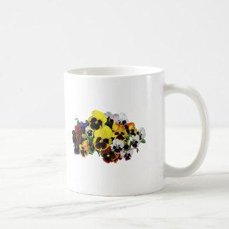 Mixed Pansies Classic White Coffee Mug