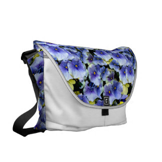 Mixed Pansies Courier Bag
