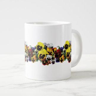 Mixed Pansies Large Coffee Mug