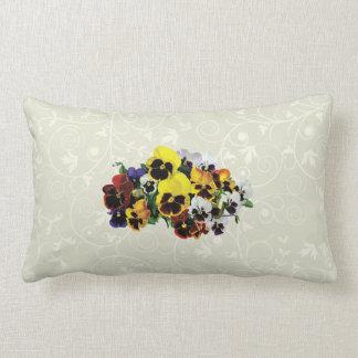 Mixed Pansies Lumbar Pillow