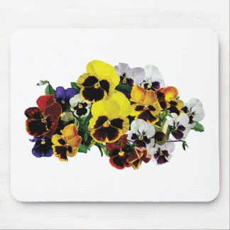 Mixed Pansies Mouse Pad