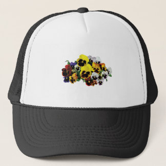 Mixed Pansies Trucker Hat