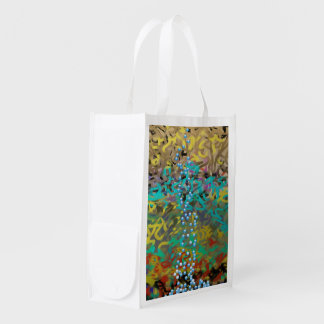 Mixed Pasta Abstract Design Grocery Bags