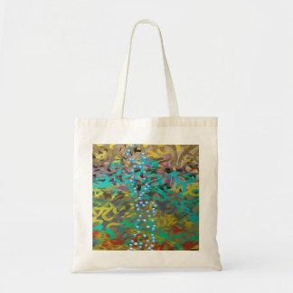 Mixed Pasta Abstract Design Tote Bag