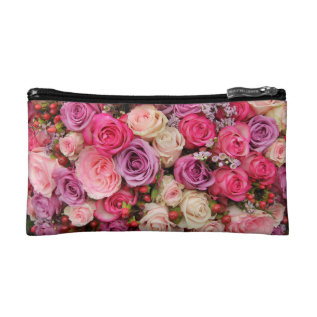 Mixed Pastel Roses By Therosegarden Cosmetic Bag at Zazzle