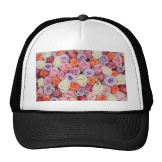 Mixed pastel roses by Therosegarden Trucker Hat