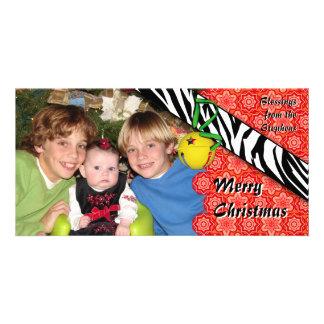 Mixed Pattern Holiday Photo Card