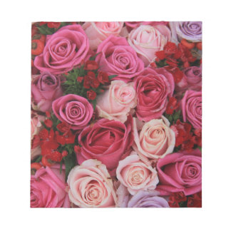 Mixed pink roses by Therosegarden Note Pads