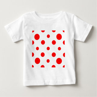 Mixed Polka Dots - Red on White Baby T-Shirt