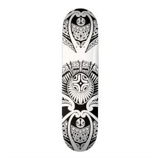 Mixed Polynesian and Maori tattoo art Skateboard