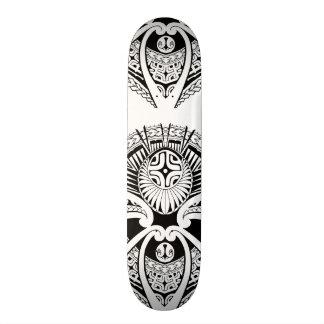 Mixed Polynesian and Maori tattoo art Skate Deck