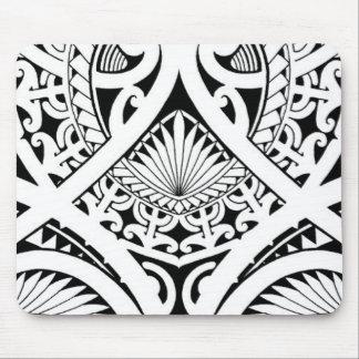 mixed polynesian maori tribal tattoo coconut leaf mouse pad