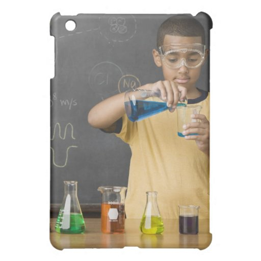Mixed Race boy in science class iPad Mini Cases