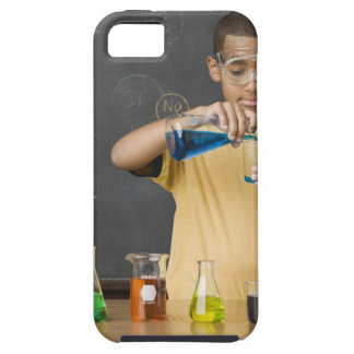 Mixed Race boy in science class iPhone SE/5/5s Case