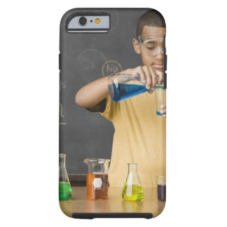 Mixed Race boy in science class Tough iPhone 6 Case