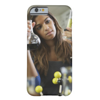 Mixed Race teenaged girl in science class Barely There iPhone 6 Case