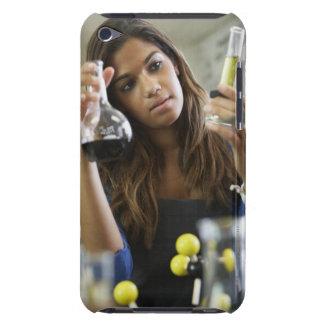 Mixed Race teenaged girl in science class Case-Mate iPod Touch Case