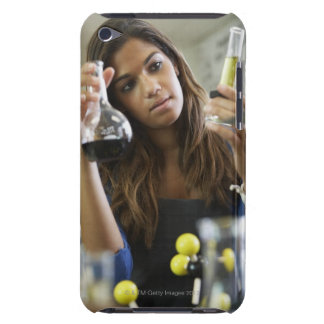 Mixed Race teenaged girl in science class iPod Case-Mate Cases