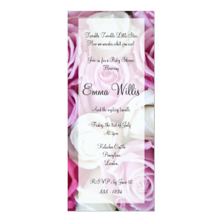 Mixed rose baby shower invite