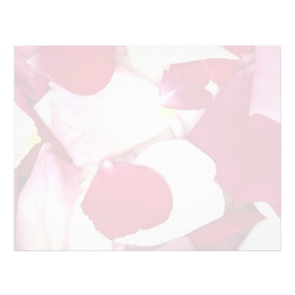 Mixed rose petals letterhead
