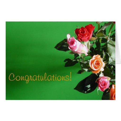 Mixed Roses Greetings Card