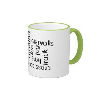Mixed Run Runner Theme Ringer Coffee Mug