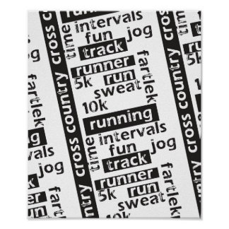 Mixed Run Runner Theme Print