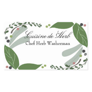 Mixed savory herbs chef catering business cards... Double-Sided standard business cards (Pack of 100)