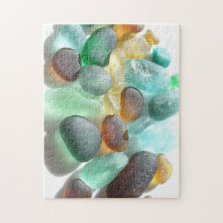 Mixed Sea Glass from Seaham Beach, UK Jigsaw Puzzle