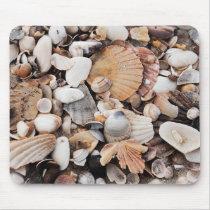 Mixed sea shells mouse mat