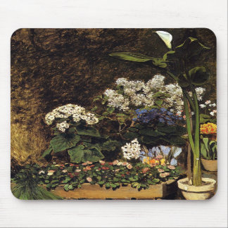 Mixed Spring Flowers by Pierre Renoir Mouse Pads