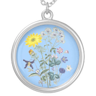 Mixed Spring Flowers Necklace