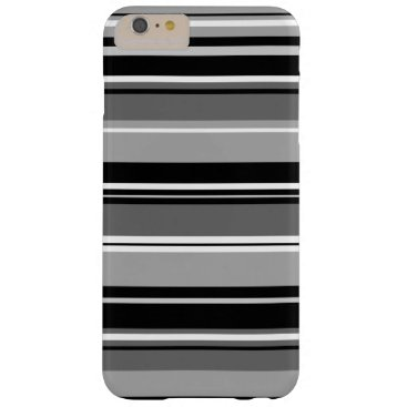 Mixed Striped Pattern Black White Grays Barely There iPhone 6 Plus Case