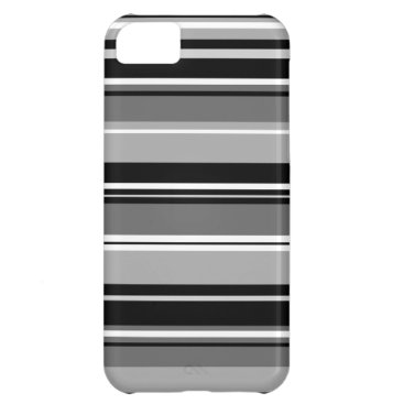 Mixed Striped Pattern Black White Grays Case For iPhone 5C