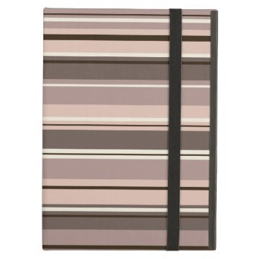 Mixed Striped Pattern Browns Taupe Creams Case For iPad Air