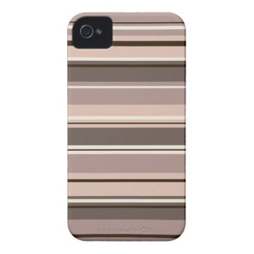Mixed Striped Pattern Browns Taupe Creams Case-Mate iPhone 4 Case