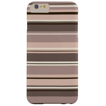 Mixed Striped Pattern Browns Taupe Creams Barely There iPhone 6 Plus Case