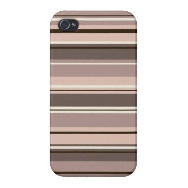 Mixed Striped Pattern Browns Taupe Creams Case For iPhone 4