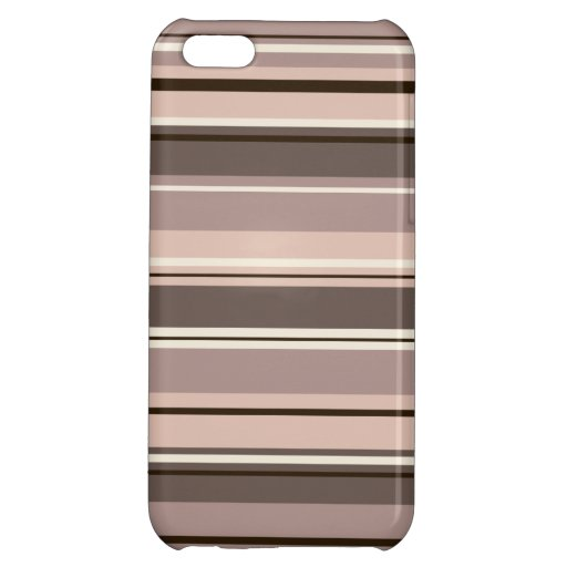 Mixed Striped Pattern Browns Taupe Creams Case For iPhone 5C