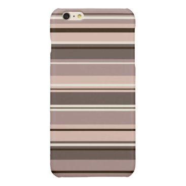 Mixed Striped Pattern Browns Taupe Creams Glossy iPhone 6 Plus Case