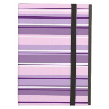 Mixed Striped Pattern Pinks Purples White Case For iPad Air
