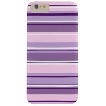 Mixed Striped Pattern Pinks Purples White Barely There iPhone 6 Plus Case