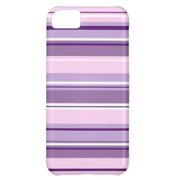Mixed Striped Pattern Pinks Purples White Case For iPhone 5C