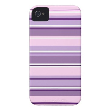 Mixed Striped Pattern Pinks Purples White Case-Mate iPhone 4 Case