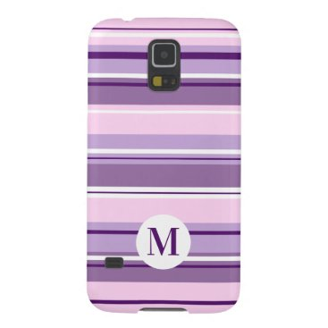 Mixed Striped Pattern Pinks Purples White(Initial) Case For Galaxy S5