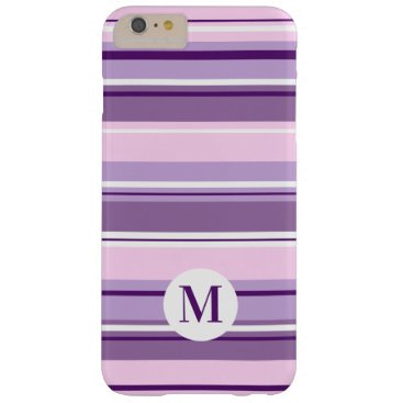 Mixed Striped Pattern Pinks Purples White(Initial) Barely There iPhone 6 Plus Case