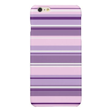 Mixed Striped Pattern Pinks Purples White Glossy iPhone 6 Plus Case